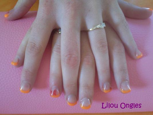 lilou ongles gel uv orange