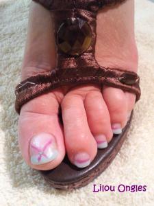 vert et mauve pieds